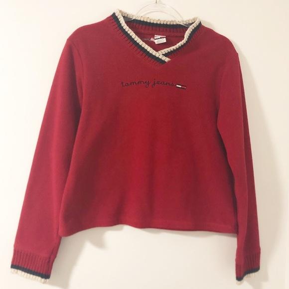 nouveau style nouveau design magasiner pour les plus récents Vintage 90's Tommy Hilfiger Fleece Pull Over